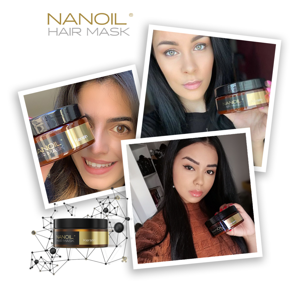 effective mask with keratin Nanoil